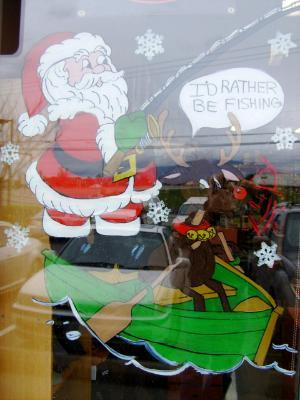 Santa & Rudolf fishing