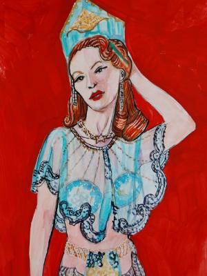 Standing Burlesque Model