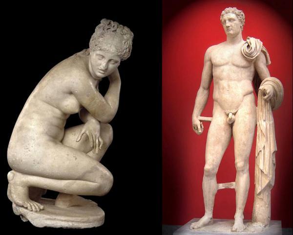 Greek Hellenic sculptures