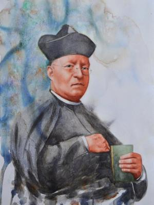 Portrait of father JULIO MARIA MATOVELLE, 35cm x 50cm, 2016