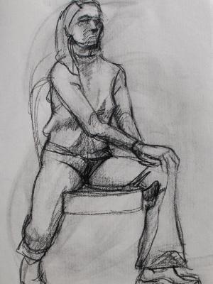 Kat, Seated
