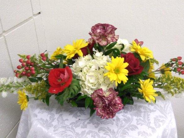 Enjoy Learning Oval Shaped Floral Arrangement California Flower Art Academy