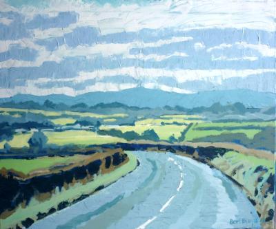 The A386 near Hatherleigh and  North Dartmoor