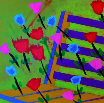 Spring flowers in Monet's garden