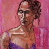 Karen, Pink Background