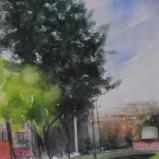Plein air watercolor paintings
