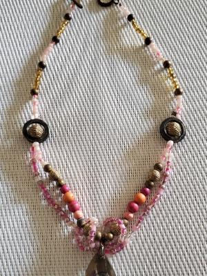 Pink n Peach Necklace