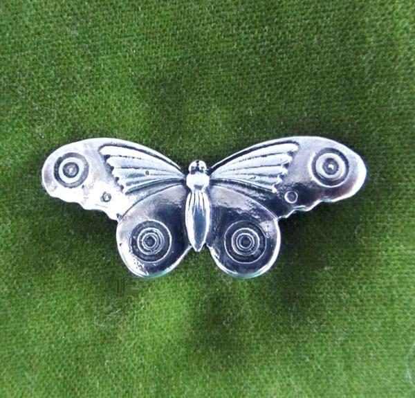 Butterfly Brooch / Butterfly pin - Art Deco moth style by Liza Paizis