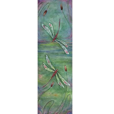 Green Dragonflies Inspiration art print