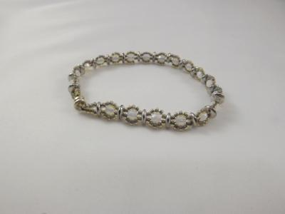 B-24 opaline & silver bracelet
