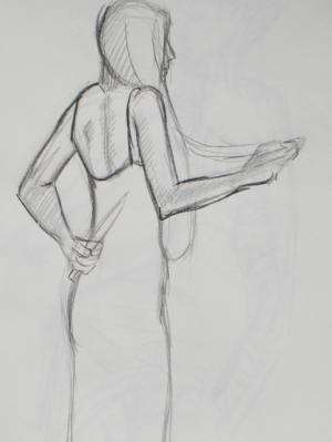 Knife Behind Her Back