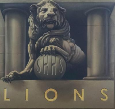 St. Helens High School Lion Mural