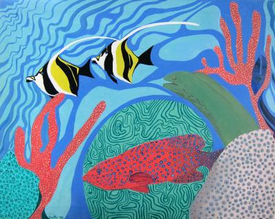 Coral Grouper, Moorish Idols and Eel