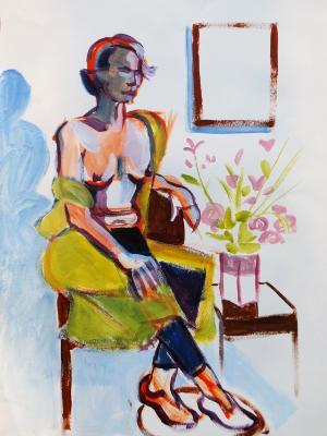 Hannah, Seated
