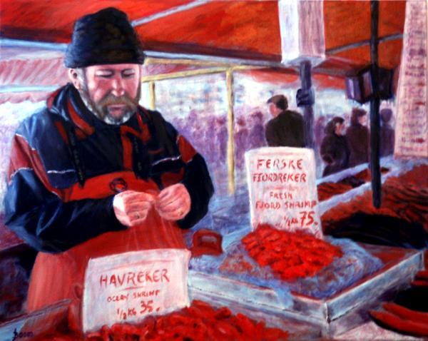 Norwegian Shrimp Vendor - SOLD
