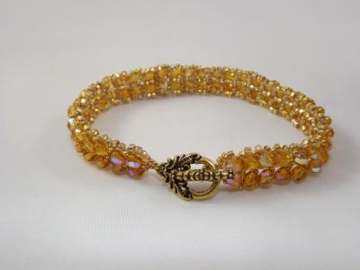 B-80 gold chevron bracelet