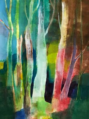 Birches abstract #2