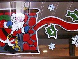 Santa in chimney garland