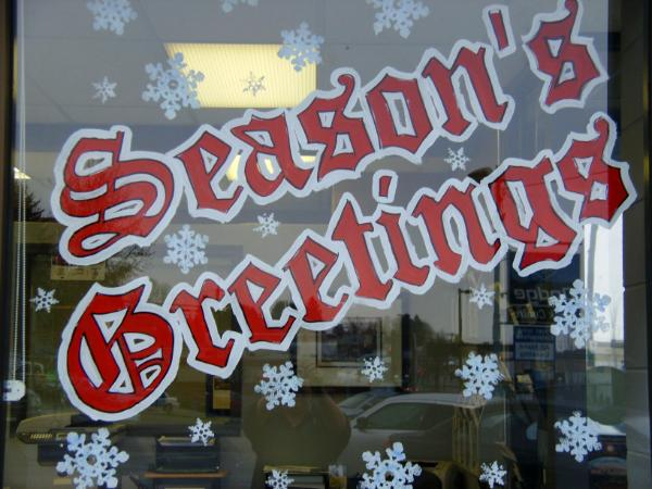 Season's Greetings red