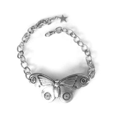 Moth bracelet unique artisan moth butterfly bangle