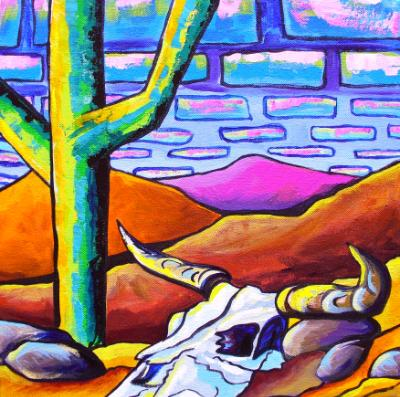 Drought .... Original Acrylic on Gallery Wrap Canvas 12x12