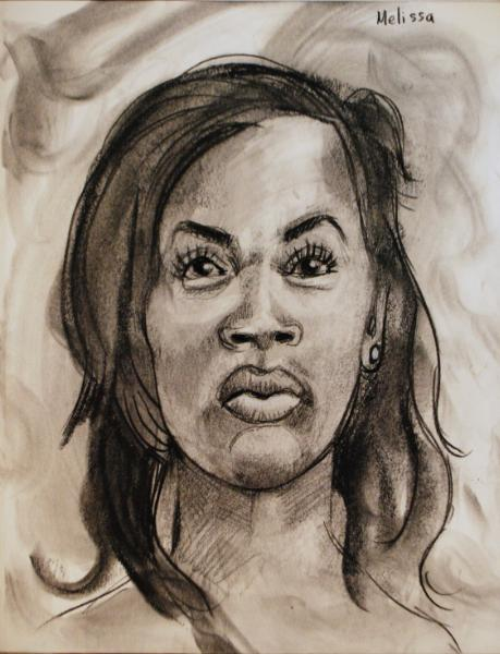 Melissa Charcoal Frontal View