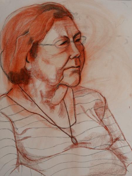 Socorro, Chalk Portrait