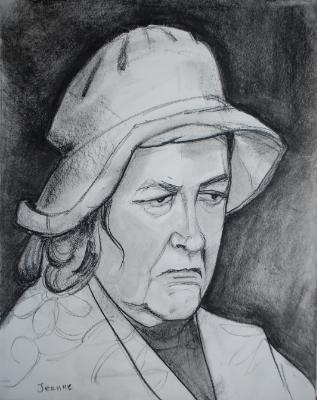 Jeanne, Charcoal Head Study