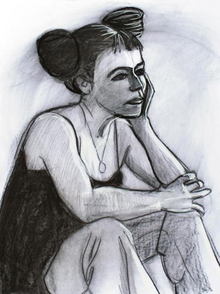 Prudence (seated)