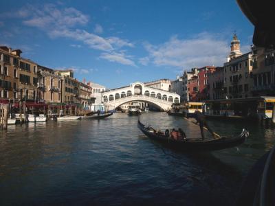Rialto Bridge and Gondola