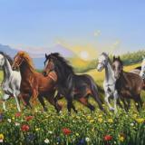 The horses of Bucovina - Romania, 130cm x 80cm, 2020
