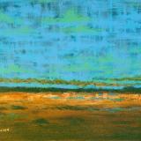 Golden Steppes  -  acrylic on canvas