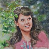 Custom portrait of a Jordan artist, 35cm x 50cm, 2017