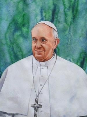 Portrait of Pope FRANCIS, 80cm x 60cm, 2014