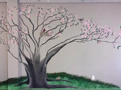 dogwood tree interior mural