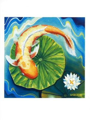 Orange Koi Lotus