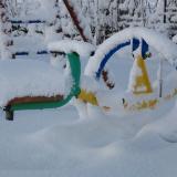 snow play!