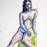Natalie, Seated Nude