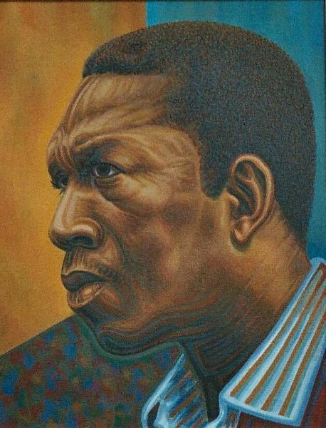 """""""John Coltrane"""" Oil On Board"""