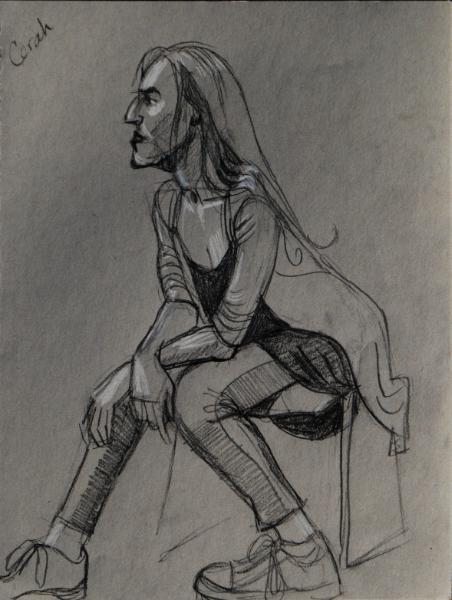 Cerah, Seated