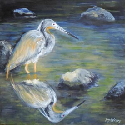 Great Blue Heron's Reflection