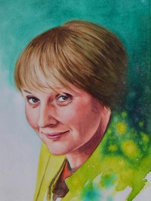 Custom portrait of a Czech artist, 28cm x 38cm, 2018