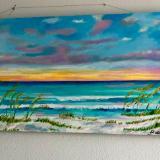 Beach on horizon