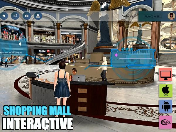 A Virtual Shopping Mall Application by Yantram, Texas