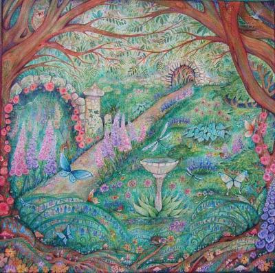 The Secret Garden Original watercolor painting