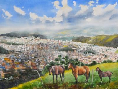 Los caballos de la libertad, 56cm x 76cm, 2018