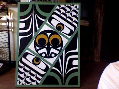 Abtract Owl Canvas