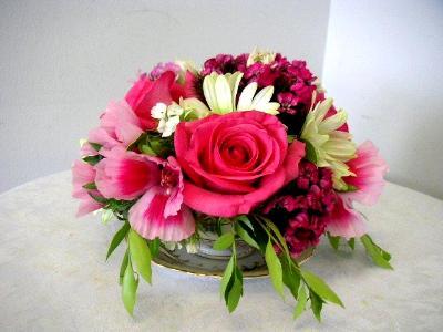 coffee cup floral arranagement