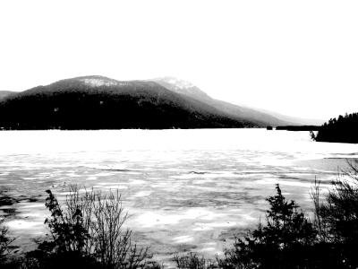 Lake George Frozen Over