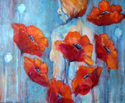 Nude and Poppies